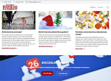 screenshot novog sajta
